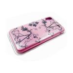 Силиконовый чехол Iphone XR 6.1 Silicone Case с узором, розовый