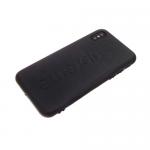 Задняя крышка Samsung J600F Galaxy J6 2018 кожа Supreme, черная