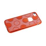 Силиконовый чехол Huawei Honor 8C 2в1 блестки с кружочками, красный