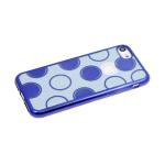 Силиконовый чехол Samsung Galaxy A40 2в1 блестки с кружочками, синий