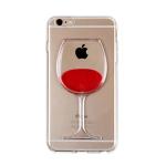 Силиконовый чехол Xiaomi Redmi GO Бокал вина, прозрачный, красный