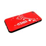 Задняя крышка Xiaomi Redmi GO глянцевая со стразами, LOVED, красная
