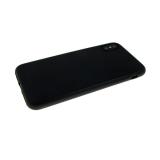 Силиконовый чехол Samsung Galaxy A20 Matte Case матовый, черный