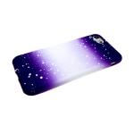 Силиконовый чехол Huawei Honor 8X переход с белыми пятнами, фиолетовый