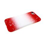 Силиконовый чехол Huawei Honor 8C переход с белыми пятнами, красный