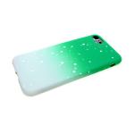 Силиконовый чехол Huawei Honor 8X переход с белыми пятнами, салатовый