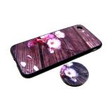 Задняя крышка Xiaomi Redmi 6a пластик с цветами, попсокет, цветущая вишня