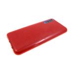 Силиконовый чехол Samsung Galaxy A50 плотный с блестками, вырез для лого, красный