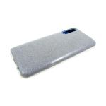 Силиконовый чехол Xiaomi Redmi 8a плотный с блестками, серебро