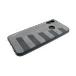 Силиконовый чехол Huawei Honor 8X под кожу с серыми полосками, серый