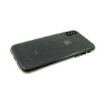 Силиконовый чехол Samsung G970F Galaxy S10 Lite Прозрачный с блестками, черный