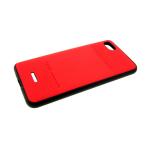Задняя крышка Samsung Galaxy A70 PULOKA, клетка cверху и внизу, красная