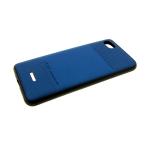 Задняя крышка Samsung Galaxy A70 PULOKA, клетка cверху и внизу, синяя