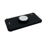 Силиконовый чехол Iphone XS Max 6.5 с металлическим попсокетом, черный