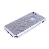 Силиконовый чехол Samsung G970F Galaxy S10 Lite с поверхностью из страз, окант со страз, серебро