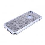 Силиконовый чехол Xiaomi Redmi Note 6 Pro с поверхностью из страз, окантовка со стразами, серебро