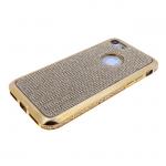 Силиконовый чехол Samsung Galaxy A30 с поверхностью из страз, окантовка со стразами, золотой