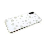 Силиконовый чехол Huawei Honor 8X сердечки в цвет бампера, белый