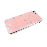 Силиконовый чехол Huawei Honor 10 серебристые сердечки, розовый