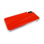 Силиконовый чехол Huawei Honor 8X северное сияние, прозрачный борт, красный