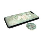 Задняя крышка Xiaomi Redmi GO Sheng Chang, цветы с попсокет, белый цветок