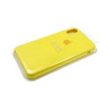 Силиконовый чехол Iphone 7 Plus/8 Plus Silicone case в блистере без логотипа, желтый