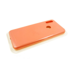 Силиконовый чехол Samsung Galaxy S21 Ultra Silicone case High-end TPU, soft-touch без лого, оранжевы