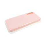 Силиконовый чехол Samsung Galaxy A21s Silicone case High-end TPU Case, soft-touch без лого, пудра
