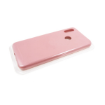 Силиконовый чехол Samsung Galaxy A21s Silicone case High-end TPU Case, soft-touch без лого, бледно-р