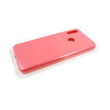 Силиконовый чехол Samsung Galaxy A21s Silicone case High-end TPU Case, soft-touch без лого, ярко-роз