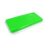 Силиконовый чехол Huawei Honor 10i Silicone case High-end TPU Case, soft-touch, бархат, салатовый