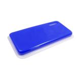 Силиконовый чехол Samsung Galaxy A21s Silicone case High-end TPU Case, soft-touch без лого, синий