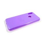 Силиконовый чехол Samsung Galaxy A21s Silicone case High-end TPU Case, soft-touch без лого, сиреневы