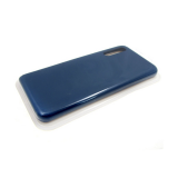 Силиконовый чехол Samsung Galaxy A21s Silicone case High-end TPU Case, soft-touch без лого, темно-си