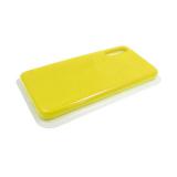 Силиконовый чехол Samsung Galaxy A21s Silicone case High-end TPU Case, soft-touch без лого, желтый