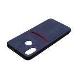 Силиконовый чехол ILEVEL визитница для Xiaomi Redmi GO (2019) темно-синий