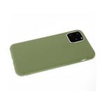 Силиконовый чехол Samsung Galaxy A30 Soft touch матовый без лого, оливковый