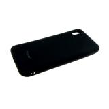 Силиконовый чехол Samsung Galaxy A70 Soft Touch матовый с логотипом, черный