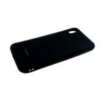 Силиконовый чехол Samsung Galaxy A80 Soft Touch матовый с логотипом, черный