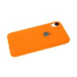 Силиконовый чехол Iphone 7/8 Soft Touch матовый с логотипом, оранж