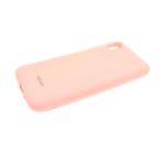 Силиконовый чехол Samsung Galaxy A30 Soft touch матовый без лого, пудра