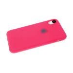 Силиконовый чехол Samsung Galaxy A31 Soft touch матовый без лого, розовый