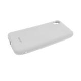 Силиконовый чехол Samsung Galaxy A70 Soft Touch матовый с логотипом, серый