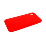 Силиконовый чехол Samsung Galaxy A80 Soft Touch матовый с логотипом, красный