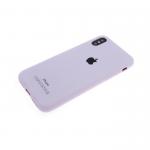 Силиконовый чехол Samsung Galaxy A30 Soft Touch матовый с логотипом, сиреневый