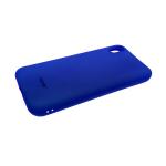 Силиконовый чехол Samsung Galaxy A70 Soft Touch матовый с логотипом, темно-синий