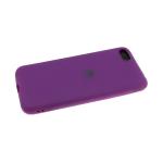 Силиконовый чехол Huawei Y6 2019 Soft Touch матовый с логотипом, вишневый