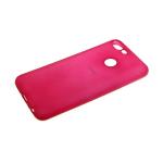 Силиконовый чехол Samsung Galaxy A20/A30 Soft Touch матовый с логотипом, розовый