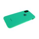 Силиконовый чехол Xiaomi Mi9 Soft Touch матовый с логотипом, зеленый