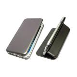 Чехол-книга Fashion Case Huawei P SMART 2019 с силиконовым основанием и магнитом, серебро